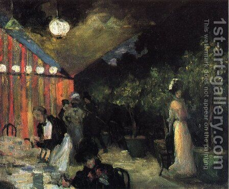 Paris Cafe 1904 by Alfred Henry Maurer - Reproduction Oil Painting