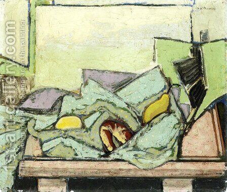 still Life with Green Cloth Date unknown by Alfred Henry Maurer - Reproduction Oil Painting