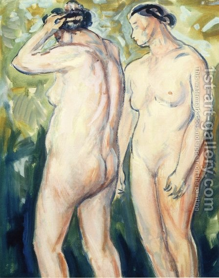 Two Figures 1927-1928 by Alfred Henry Maurer - Reproduction Oil Painting