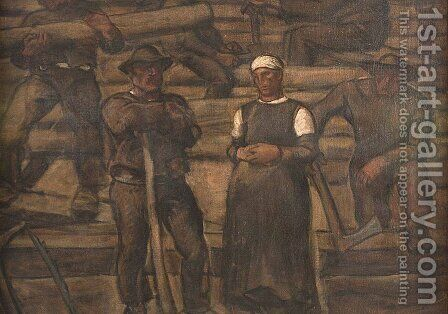 Die Lebensalter by Albin Egger-Lienz - Reproduction Oil Painting