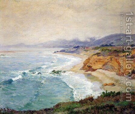 Lifting Fog Laguna by Guy Rose - Reproduction Oil Painting