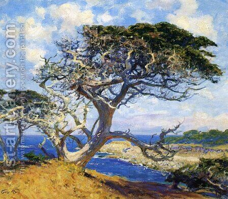 Monterey Cypress by Guy Rose - Reproduction Oil Painting