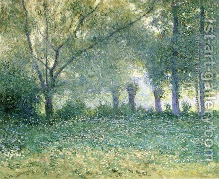 Morning Mist Late Spring by Guy Rose - Reproduction Oil Painting