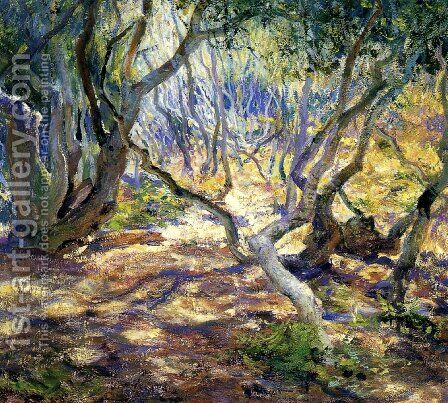 Oak Grove Carmel by Guy Rose - Reproduction Oil Painting
