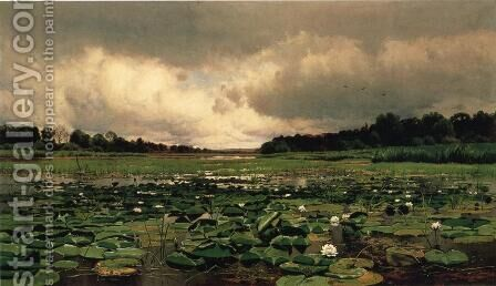 The Lily Pond by Charles Warren Eaton - Reproduction Oil Painting