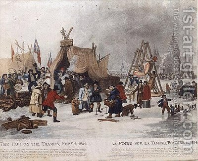 The Fair on the Thames by (after) Clennell, Luke - Reproduction Oil Painting