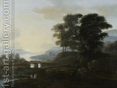 Classical Landscape by (after) Claude Lorrain (Claude Gellee) - Reproduction Oil Painting