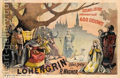 Poster advertising Wagners Lohengrin by Alfred Choubrac - Reproduction Oil Painting