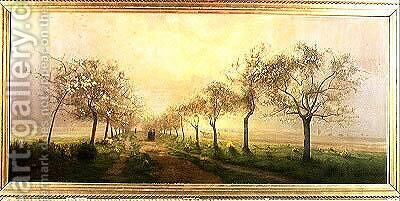 Apple Trees and Broom in Flower by Antoine Chintreuil - Reproduction Oil Painting