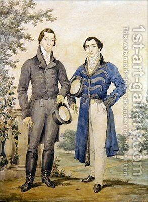 Portrait of two gentlemen by James Warren Childe - Reproduction Oil Painting