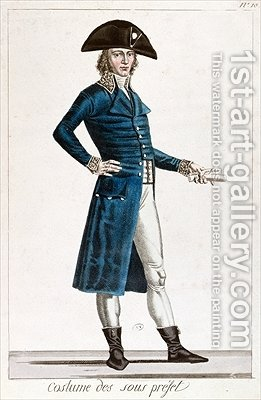 Costume of an Under Prefect during the period of the Consulate 1799-1804 of the First Republic in France by Chataignier - Reproduction Oil Painting