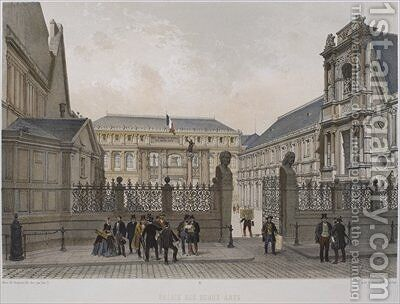 Palais des Beaux Arts Paris by (after) Chapuy, Nicolas Marie Joseph - Reproduction Oil Painting