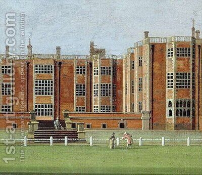 View of Temple Newsam House by James Chapman - Reproduction Oil Painting