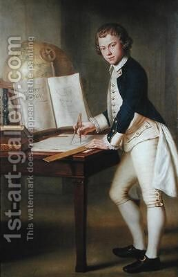 Portrait of a Midshipman by Mason Chamberlain - Reproduction Oil Painting