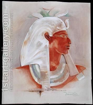 Head of Queen Makare Hatshepsut by Howard Carter - Reproduction Oil Painting