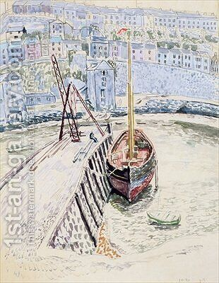 The Sans Pareil in Brixham Harbour by Dora Carrington - Reproduction Oil Painting