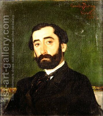 Portrait of a bearded gentleman by Carolus (Charles Auguste Emile) Duran - Reproduction Oil Painting