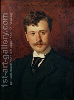Portrait of Georges Feydeau 1862-1921 by Carolus (Charles Auguste Emile) Duran - Reproduction Oil Painting