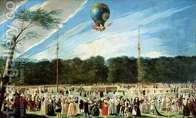 The Ascent of the Montgolfier Balloon at Aranjuez 2 by Antonio Carnicero - Reproduction Oil Painting