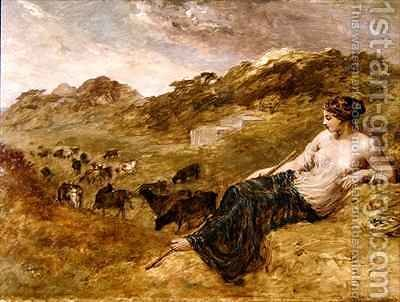 Cyrene and Cattle by Edward Calvert - Reproduction Oil Painting