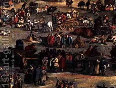 Detail of The Fair at Impruneta, Florence by (after) Callot, Jacques - Reproduction Oil Painting