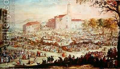 The Fair at Impruneta 2 by (after) Callot, Jacques - Reproduction Oil Painting