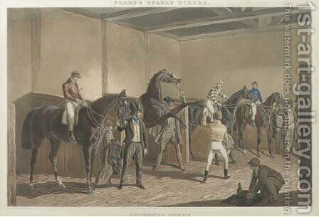 Fores's Stable Scenes The Hunting Stud by (after) John Frederick Snr Herring - Reproduction Oil Painting