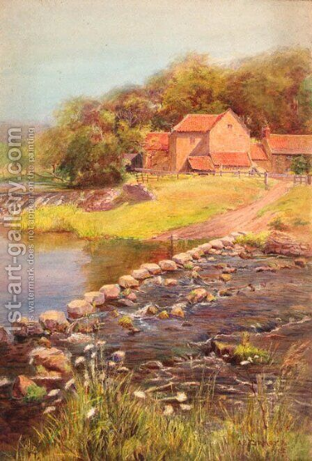 The stepping stones by A.B. Connor - Reproduction Oil Painting