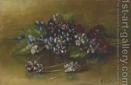 Still Life with Flowers by Abbie Luella Zuill - Reproduction Oil Painting