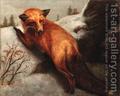 The Red Fox by Abbott Handerson Thayer - Reproduction Oil Painting