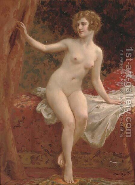 A beauty in the boudoir by Abel Dominique Boye - Reproduction Oil Painting
