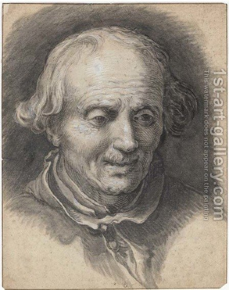 Portrait of an old man looking down by Abraham Bloemaert - Reproduction Oil Painting
