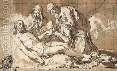 The Lamentation by Abraham Bloemaert - Reproduction Oil Painting