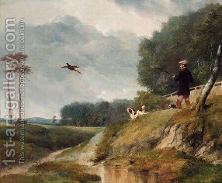 The Pheasant Shoot by Abraham and Webster, Thomas Cooper - Reproduction Oil Painting