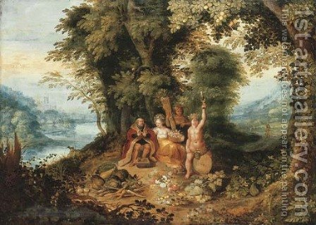 An Allegory of the Four Seasons by Abraham Govaerts - Reproduction Oil Painting