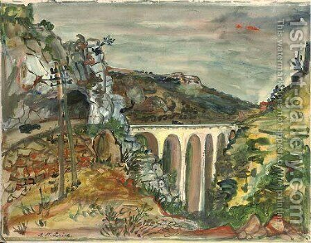 The viaduct by Abraham Mintchine - Reproduction Oil Painting