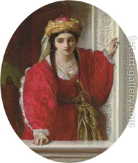 Juliet at her balcony by Abraham Solomon - Reproduction Oil Painting