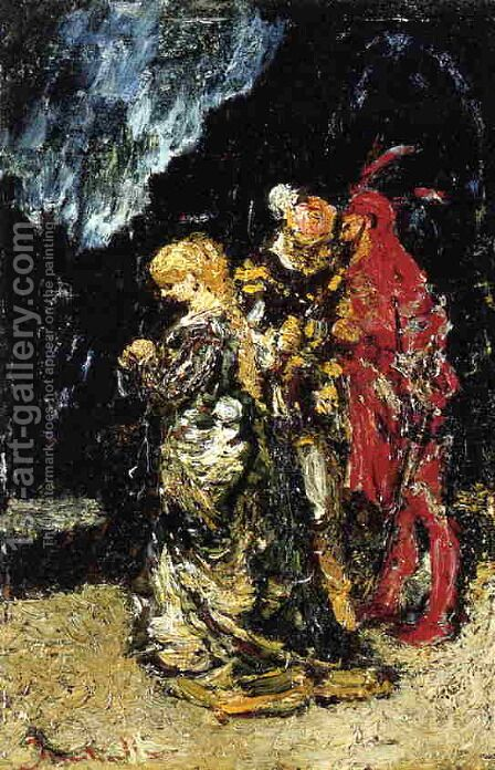 Mephisto by Adolphe Joseph Thomas Monticelli - Reproduction Oil Painting