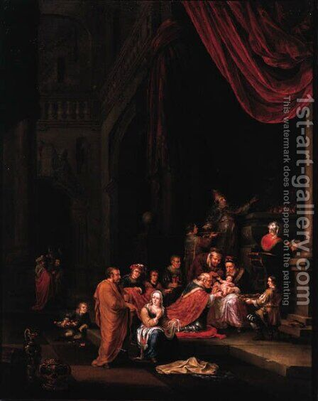 The Circumcision by Adriaen The Elder Verdoel - Reproduction Oil Painting