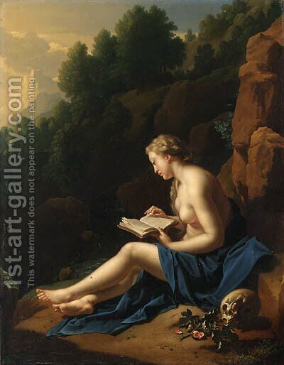 The Penitent Magdalen by Adriaen Van Der Werff - Reproduction Oil Painting