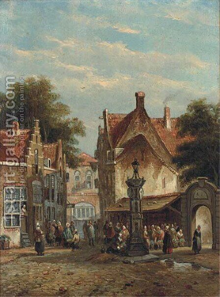 Antwerp by Adrianus Eversen - Reproduction Oil Painting