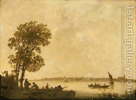 River landscape by Aelbert Cuyp - Reproduction Oil Painting