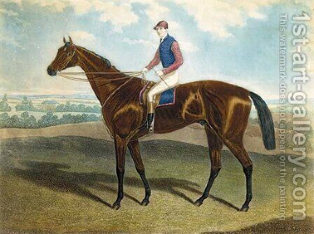 West Australian, winner of the Derby 1853, by C.N. Smith and H. Meyer by Alfred F. De Prades - Reproduction Oil Painting