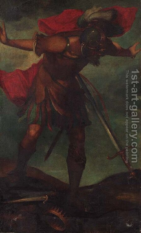 King Saul by (after) Abraham Bloemaert - Reproduction Oil Painting