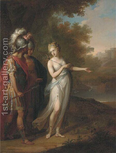 Venus appearing to Aeneas by (after) Kauffmann, Angelica - Reproduction Oil Painting