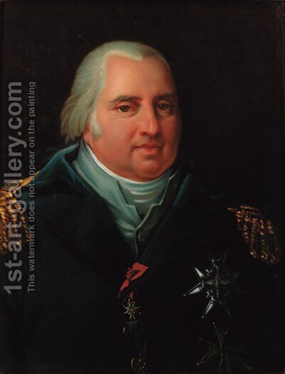 Portrait of a Naval officer, bust-length, wearing a uniform by Antoine-Jean Gros - Reproduction Oil Painting