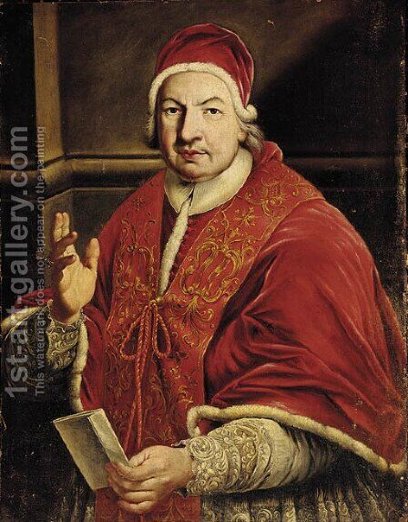Portrait of Pope Benedetto XIV by Anton Raphael Mengs - Reproduction Oil Painting