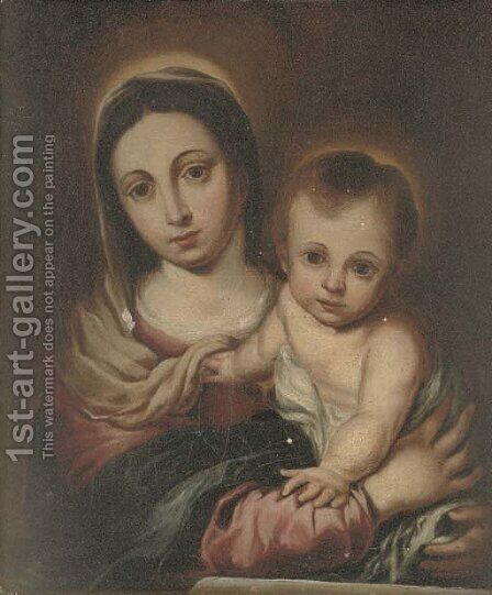 The Madonna and Child 3 by Bartolome Esteban Murillo - Reproduction Oil Painting