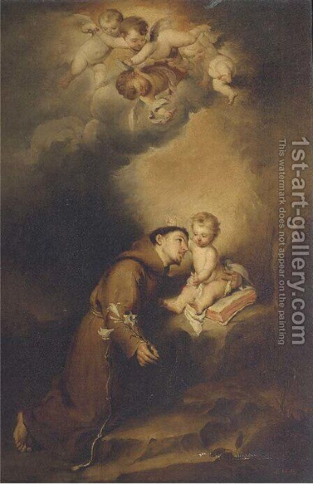 The Vision of Saint Anthony of Padua by Bartolome Esteban Murillo - Reproduction Oil Painting