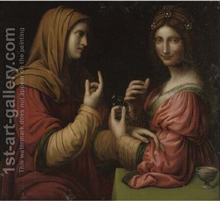 Vanity and Modesty by Bernardino Luini - Reproduction Oil Painting
